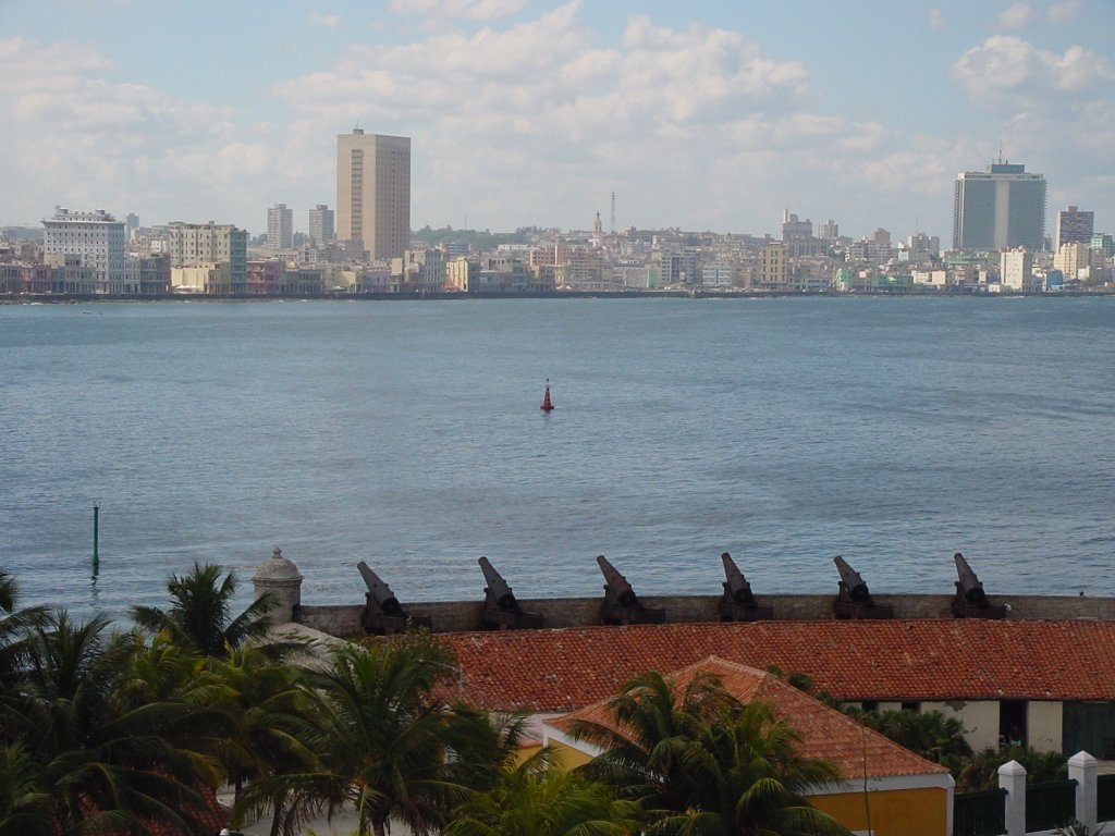 Habana - skyline from fort guarding harbour